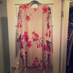 Eva Mendez Floral Flowy Dress